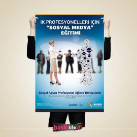 Afiş / Poster Basımı  32x47 cm 170 gr Parlak Kuşe