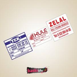 Halı Yıkama Etiketi Rulo Bez Etiket - 7x4 cm
