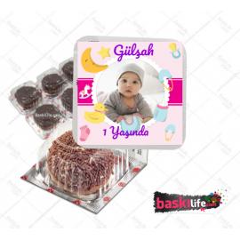 Eti Puf Etiketi Pembe Kız Çocuk Teması • Sadece Etiket